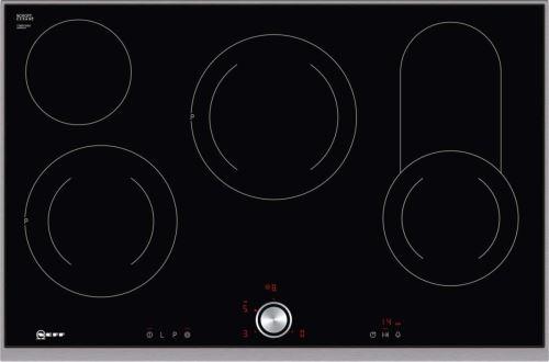 Neff T18TT16N0 - Vitrocéramique - 4 plaques de cuisson - Niche - largeur : 78 cm - profondeur : 50 cm - noir - avec garnitures en acier inoxydable - n