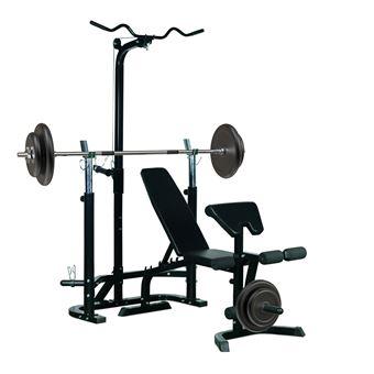 Banc De Musculation Fitness Entrainement Complet Dossier Réglable
