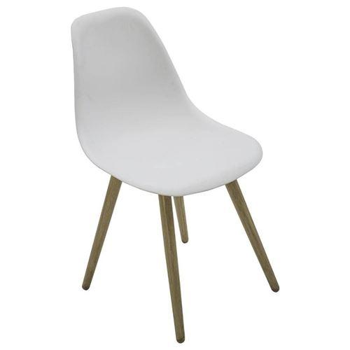 Chaise North coloris blanc / effet bois Hespéride