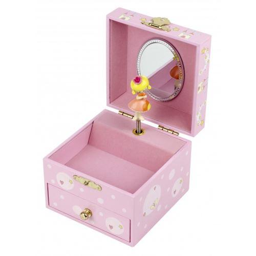 Coffret cube rose princesse et son chien Trousselier
