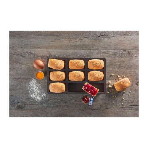 LURCH Lot de 9 moules a brownies - Marron
