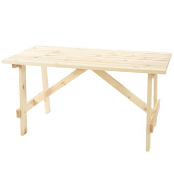 Table de jardin Oslo, table en bois, qualité de brasserie, 148x70 cm ...