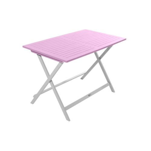 Table de jardin pliante rectangulaire BURANO CITY GREEN Rose pâle ...