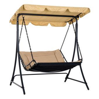Balancelle hamac de jardin 2 places grand confort inclinaison toit ...