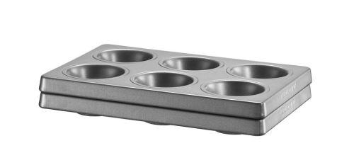 KitchenAid KBNSS06MF Set de 2 Moules pour 6 Muffins Acier/Aluminium Noir 18,00 x 27,00 x 5,00 cm