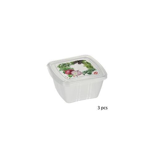 Boîte carrée 0,25 L - Lot de 3 - Blanc