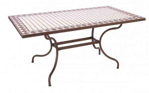Table en acier et polyester - Dim : L 160 x P 90 x H 75 cm -PEGANE-