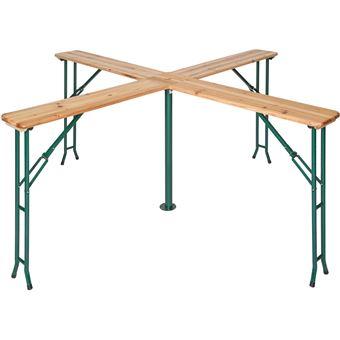 x 103 Jardin cm de Table en cm de Marron Bois x Réception Haute 241 Pliante cm 241 TECTAKE I67vygYfb
