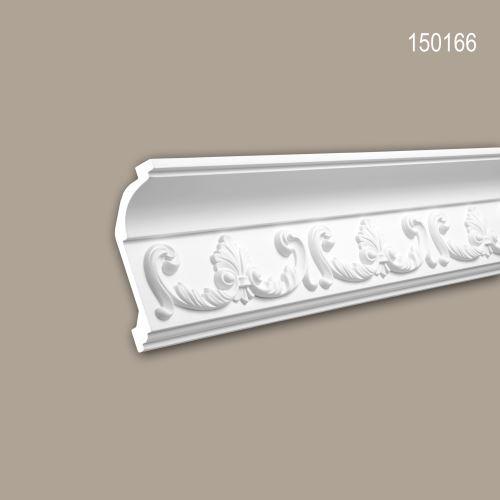 Corniche 150166 Profhome Moulure décorative style Rococo-Baroque blanc 2 m