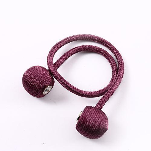 1pcs Embrasses De Rideaux Magnétiques Boucle Tressée Rose rouge