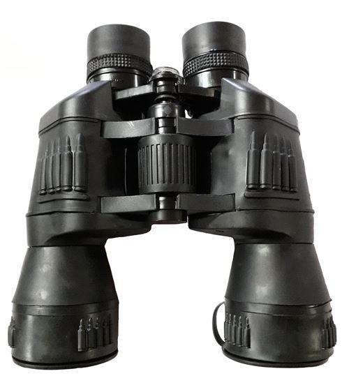 Jumelles compactes 20x50 abs noir avec protection lentilles + sacoche de transport et boussole