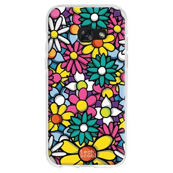 coque pour Samsung Galaxy A3 2017 TPU Silicone couleurs de fleurs
