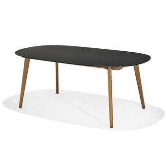 Table ovale 190x105cm plateau duranite et pieds eucalyptus FSC ...