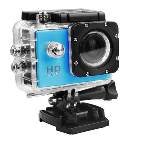 Caméra Sport Mini Hd 1080P Wifi Étanche -Bleu
