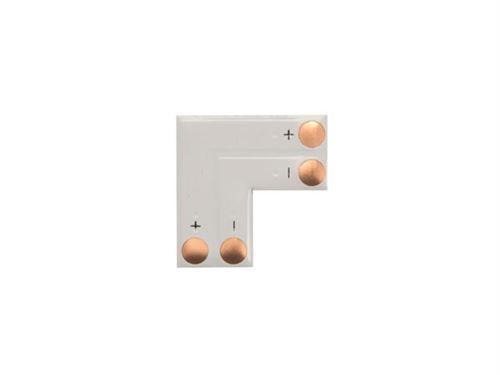adaptateur angle pour flexible led en l - 1 couleur 8 mm