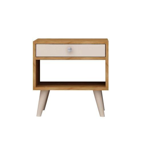de design L45 H50 chevet cm x Table Fenola Marron chêne QCoBdxerW