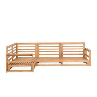 Salon de jardin en bois acacia Timor - Mobilier de Jardin - Achat ...