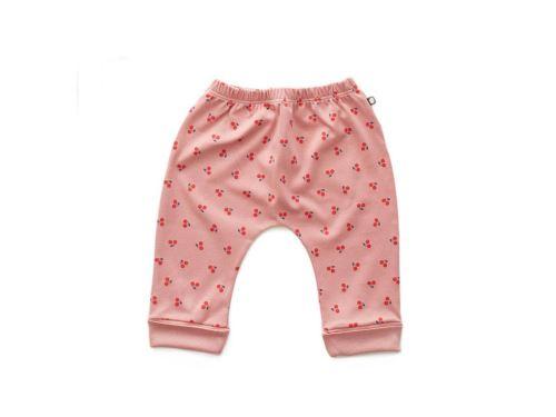 Oeuf Baby Clothes - Sarouel cerises coton bio rose 6/12M