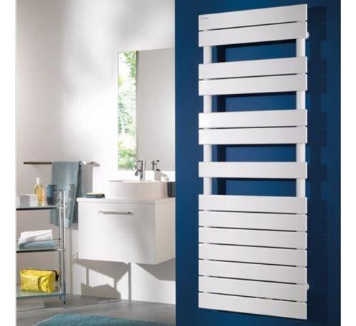 Radiateur sèche-serviettes - Chauffage central - Fassane SPA Symétrique - 1019 W - 20 lames - Blanc