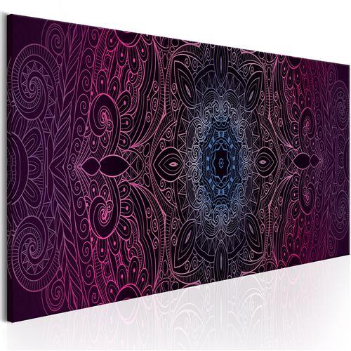 Tableau - purple mandala - artgeist - 150x50