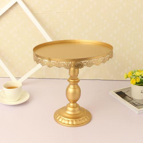 3Pcs / Set Crystal Metal Cake Stand Blanc / Gold Cupcake Dessert Candy d'or