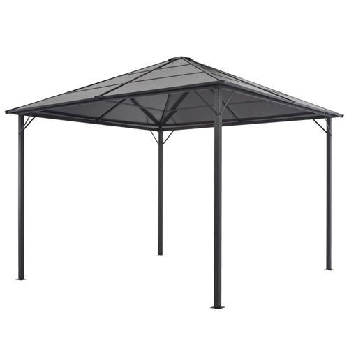 vidaXL Tonnelle avec toit Aluminium 3x3 m Noir