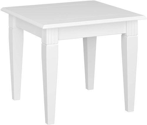 Table basse coloris extra blanc en MDF - 51 x 60 x 60 cm -PEGANE-
