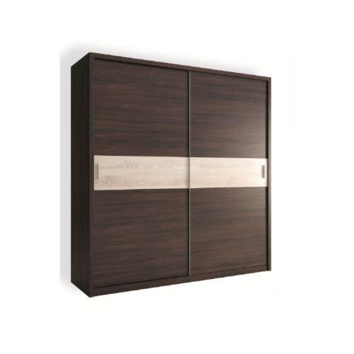 Armoire NADIA 200 x 212 x 60 cm - Couleur: wengé