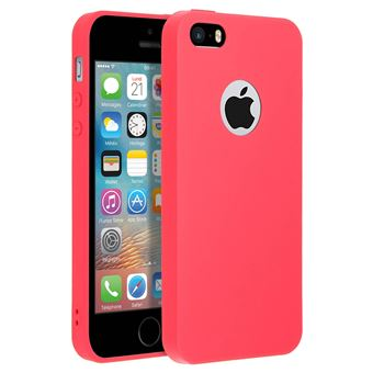Coque Silicone Couleurs IPHONE 5/5S Mat Ultra Mince Protection Gel Souple (ROUGE)