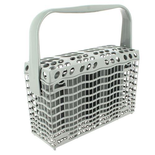 Panier a couverts gris pour Lave-vaisselle Faure, Lave-vaisselle Electrolux, Lave-vaisselle Arthur martin, Lave-vaisselle Zanussi, Lave-vaisselle Rex