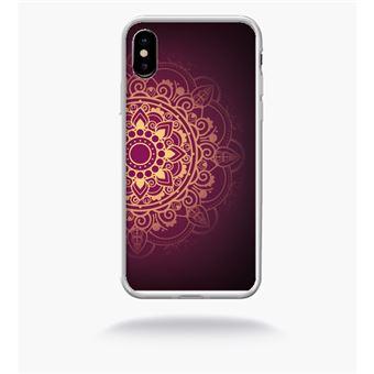 coque iphone x transparente bord or
