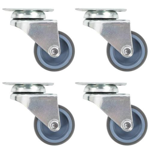 8 pcs Roulettes pivotantes doubles 50 mm
