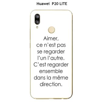 coque huawei p20 lite phrase