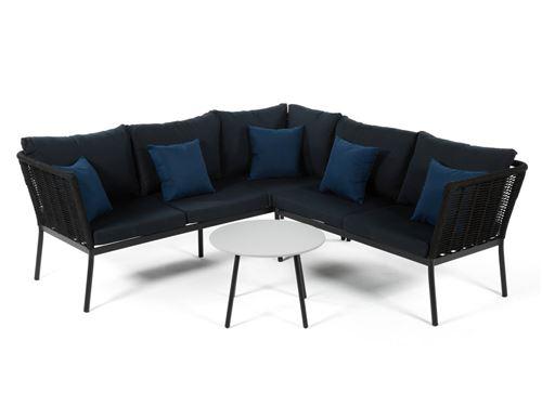 Salon bas de jardin 5 places MINAYA : table basse + canapé d ...