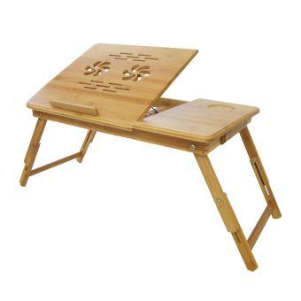 Plateau de Lit Pliable, Table Portable pour Ordinateur, Bureau ... on