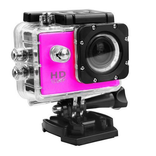 Caméra Sport Mini Hd 1080P Wifi Étanche -Rose