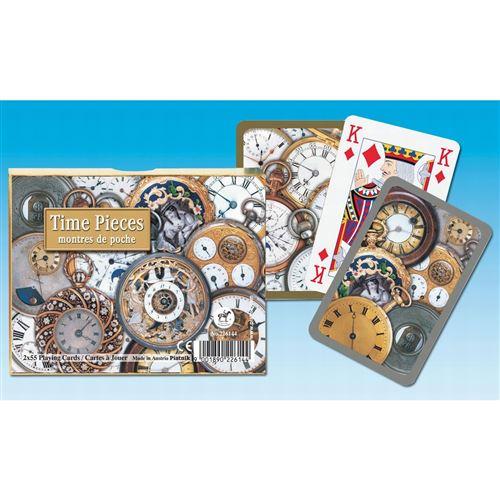 PIATNIK Coffret de 2 jeux de cartes TIME PIECES Multicolore