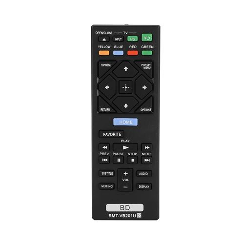 Télécommande de Remplacement RMT-VB201U DVD Blu-ray pour SONY BDP-S3700 BDP-BX370