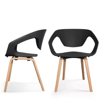 Lot De 2 Chaises Design Scandinave Danwood