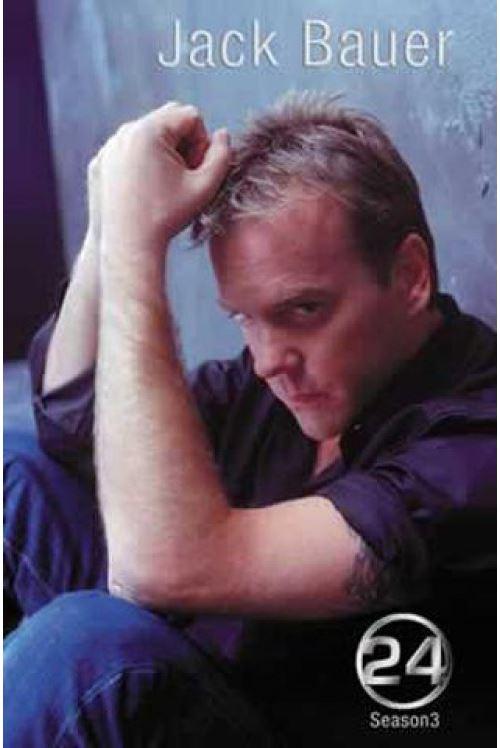 24 Heures Chrono Poster Saison 3 Jack Bauer 98x68 cm