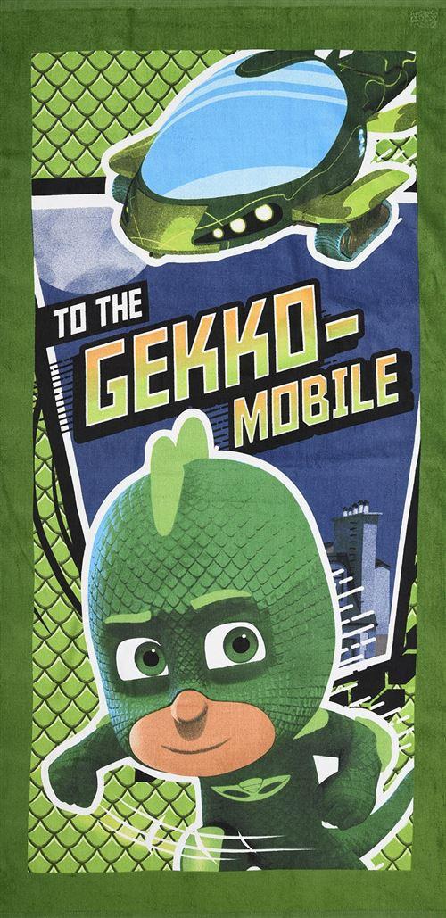 PJ Masks serviette de bain To The Gekko Mobile vert junior 70 x 140 cm