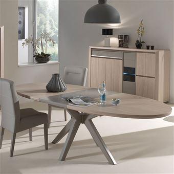 Nouvomeuble - Salle à manger moderne couleur bois et taupe ...