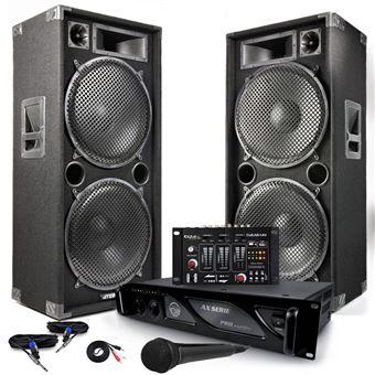 Pack sonorisation complet 2 enceintes pro 4000w max215 - Table de mixage en ligne gratuit ...