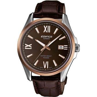 Montre Homme Casio Edifice EFB-101L-5AVER Bracelet Cuir Marron - Montre à  quartz - Achat   prix   fnac 583e37f8b895