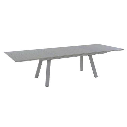 Table extensible en alu gris 200/300 x 110 cm Ofanto