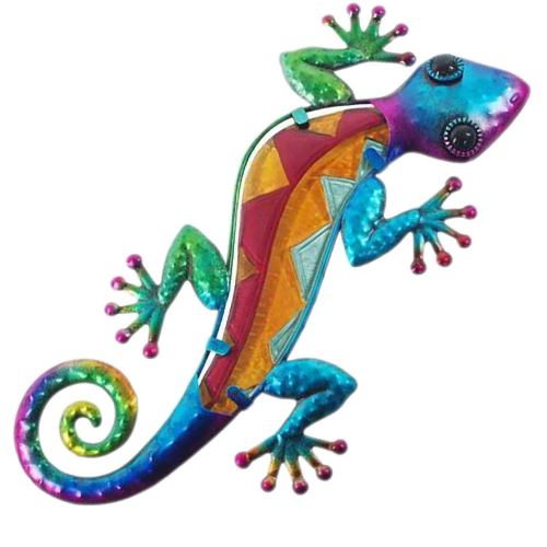 Gecko déco murale 29 cm