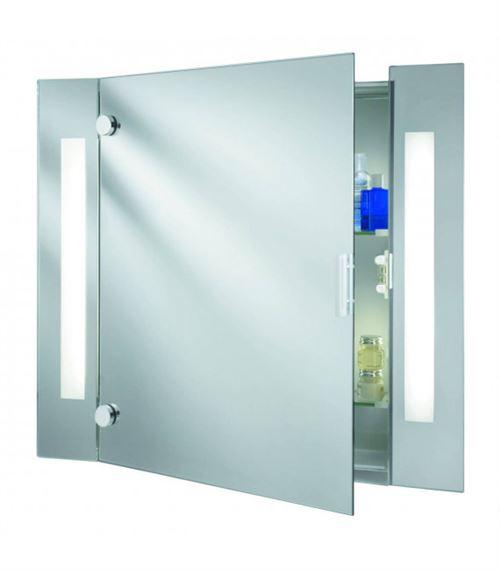 Armoire lumineuse salle de bain, verre miroir et prise rasoir