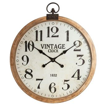 Horloge Murale Vintage Gouss 74cm Naturel