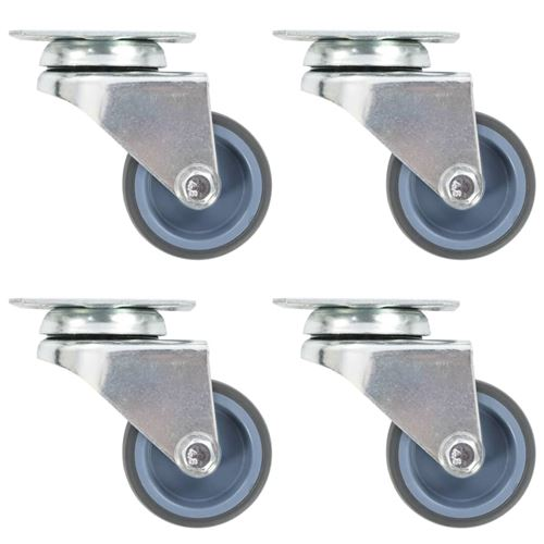 12 pcs Roulettes pivotantes doubles 50 mm