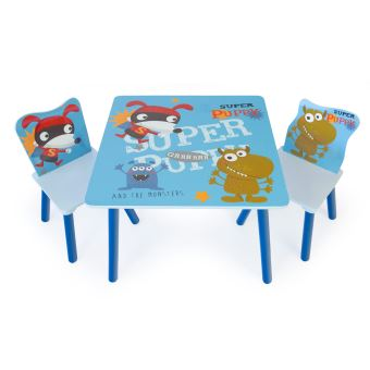 Ensemble Table Et Chaise Enfant Multicolore PEGANE